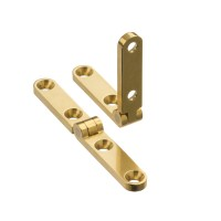 Radial knuckled full mortise side rail hinge