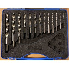 HSS wood twist drill set - 13 metric sizes