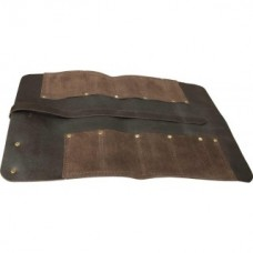 Premium Brown Leather 8 Pocket Chisel Roll