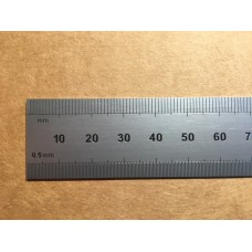 "12"" E/M Rigid round end rule"