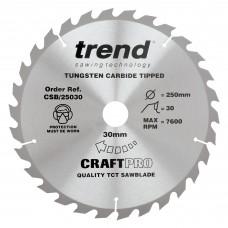 Craft saw blade 250mm x 30 teeth x 30mm