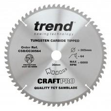 Craft saw blade crosscut 305mm x 64 teeth x 30mm