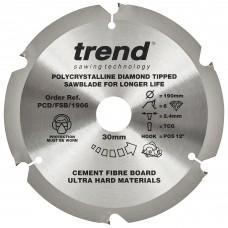 Fibreboard sawblade PCD 190mm x 6T x 30mm