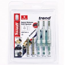 Snappy drill bit guide 5pc set  - shank 1/4 hex