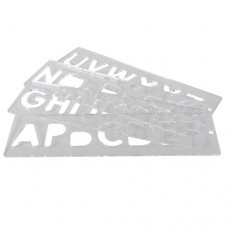 Template set letters 57mm uppercase
